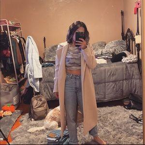 Longline cream coat